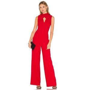 Trina Turk Contessa Keyhole High Neck Red Jumpsuit